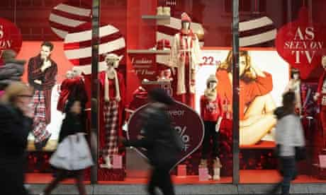 Christmas shopping in Oxford Street, London