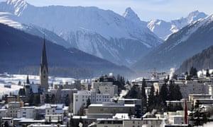 The village of Davos, Switzerland