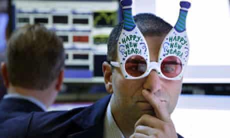 US stock market trader