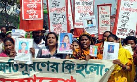 Activists and survivors of the Rana Plaza disaster