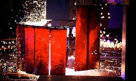 A steel works in Rotherham