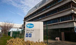 Pfizer research site in Sandwich, Kent