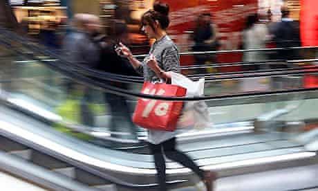 A shopper at Westfield