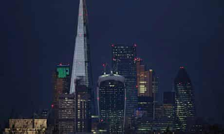 Tall buildings in the City of London financial district