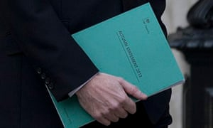 Chancellor of the Exchequer George Osborne holds the annual statement 2013