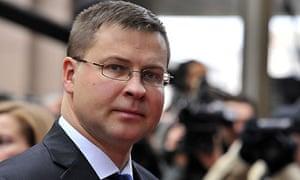 Latvian PM Valdis Dombrovsk