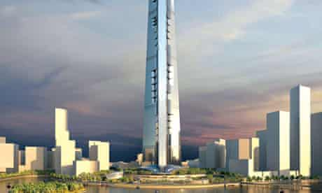 Artist impression of the Kingdom Tower in Jeddah, which aims to be the world's tallest building