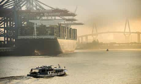 German trade: Hamburg container port