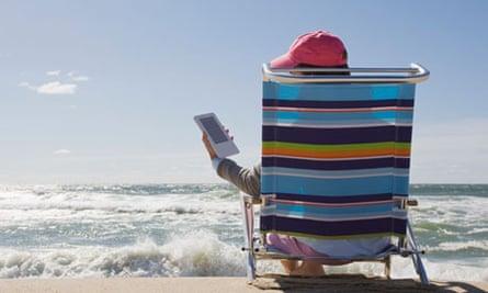 Reading at the beach - ebooks