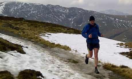 Nick Van Mead running in the Lake District