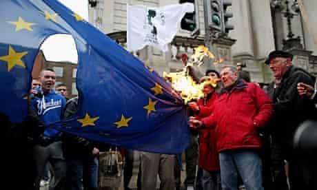 Anti-austerity protest in Dublin