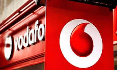 Vodafone shares fell back
