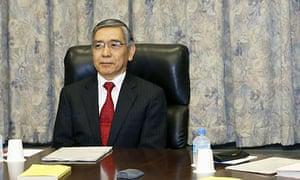 New Bank of Japan governor Haruhiko Kuroda