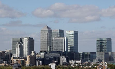 UK services sector - Canary Wharf