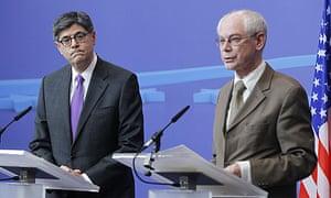Jack Lew and Herman Van Rompuy