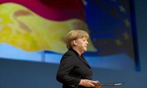German chancellor Angela Merkel in Leipzig, 2012