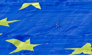 European Union flag in Romania