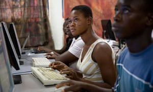 Ghanaian youths learn new skills on computers