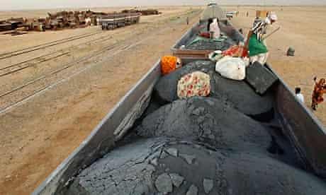 Iron ore train in Mauritania