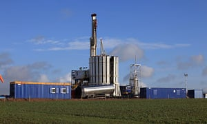 Cuadrilla drilling rig explores Bowland shale