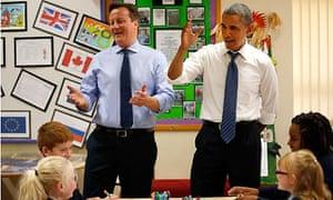 David Cameron and Barack Obama at G8