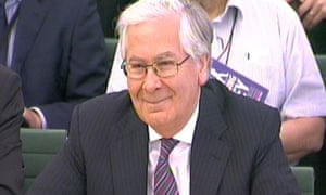 Governor of the Bank of England Mervyn King appears before the Treasury select committee, June 2013