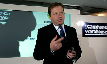 Charles Dunstone of Carphone Warehouse