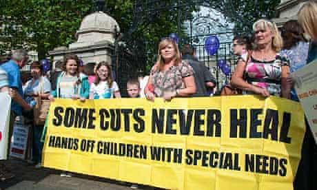 An anti-cuts protest in Dublin this week