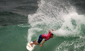 C.J Hopgoog competes during the ASP world tour Billabong Rio Pro 2013