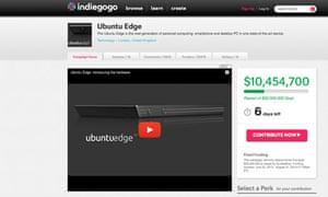 Ubuntu Edge smartphone on Indiegogo