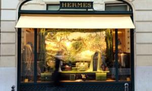 Hermes shop in Paris