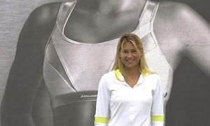 Anna Kournikova advertising Shock Absorber sports bras