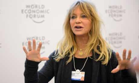 Goldie Hawn speaks at Davos 2014