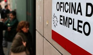 An unemployment office in Spain