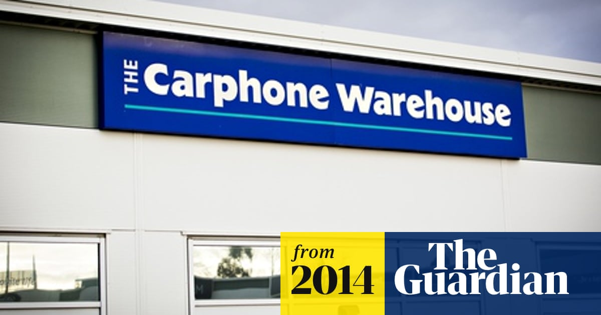 Dixons and Carphone Warehouse in £3 5bn merger talks