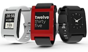 Pebble smartwatches.