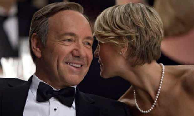 Kevin Spacey and Robin Wright in a scene from the Netflix original series, House of Cards'