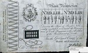 Bank of England - George Cruikshank Restriction Note 1819