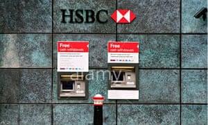 HSBC cash machine