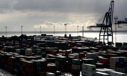 Felixstowe port - manufacturing/exports