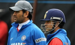 India captain Mahendra Singh Dhoni, left, will have to do without Sachin Tendulkar