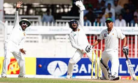 Pakistan's Younus Khan against Sri Lanka in Sharjah in 2011