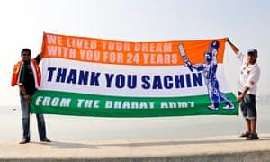 Fans of Sachin Tendulkar