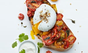 Yotam Ottolenghi's bruschetta with dukkah egg and slow-roasted tomatoes