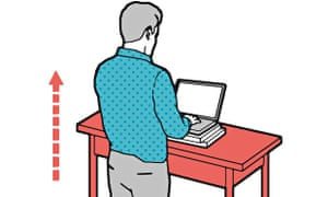 Standing desks improve health and productivity, research shows.