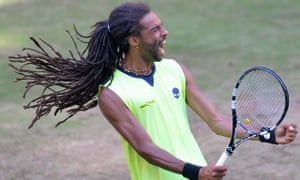 German Dustin Brown reacts during his ma