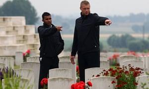 2009 England Ashes squad visit British war graves
