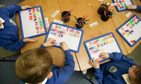 Primary school children learning to read using synthetic phonics