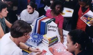 Careers advice stall
