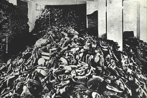 Holocaust Memorial Day: Shoes of inmates at Auschwitz